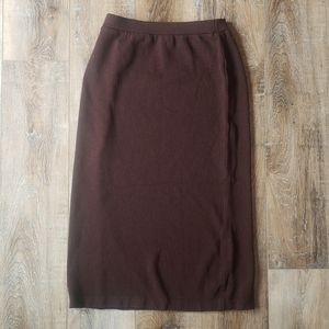 St John Collection by Marie Gray Mocha Maxi Skirt